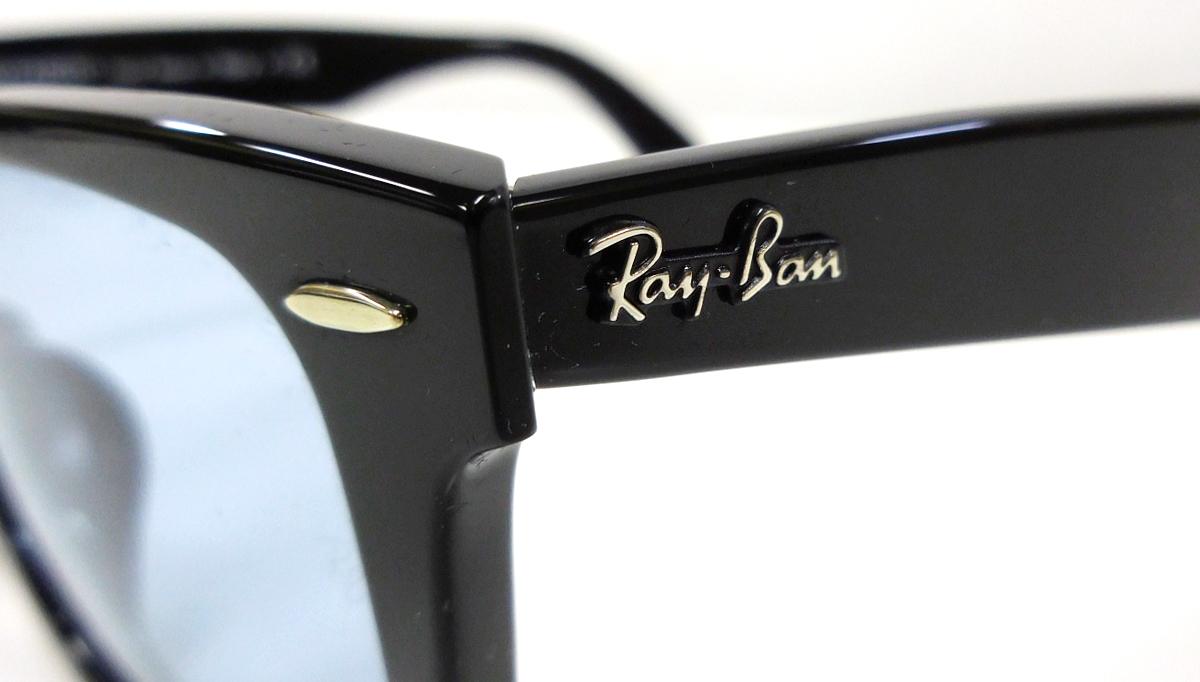 【新品】【送料無料!】Ray-Ban レイバン サングラス ウェイファーラー WAYFARER WASHED LENSES JPフィット ブラック×クリスタルブルーグレー RB2140F 901/64 52-22