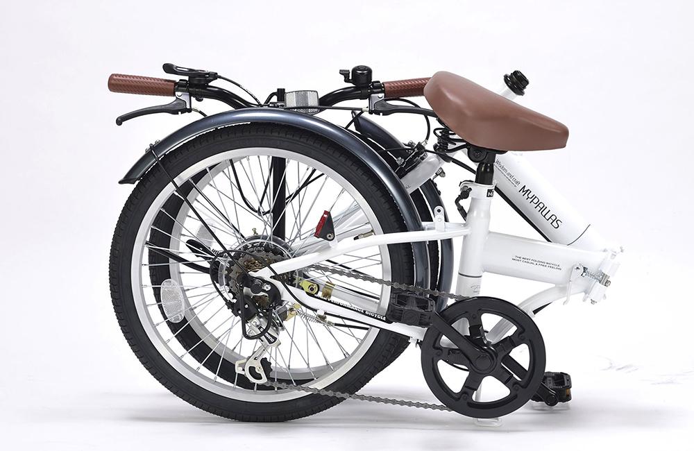 折りたたみ自転車 池商 マイパラス M-200(W) ホワイト 20インチ