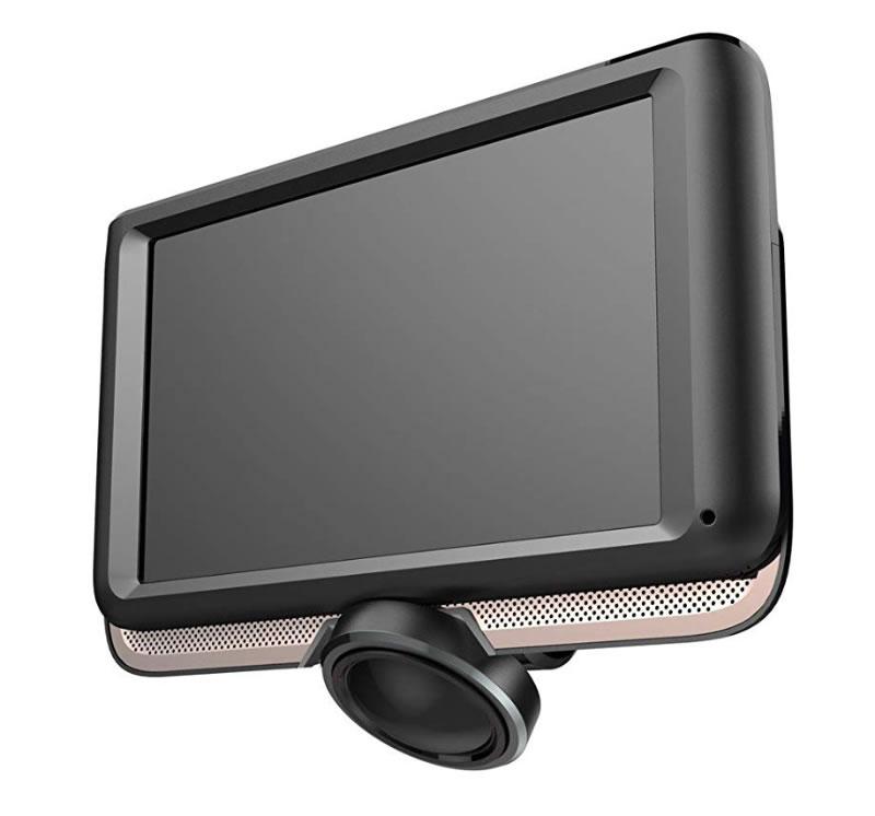 【新品】SaiEL サイエルインターナショナル 360度カメラ搭載 4.5インチ ドライブレコーダー 12V車専用 SLI-DT360