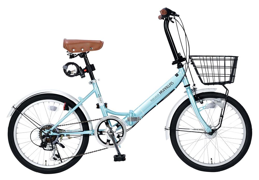 折りたたみ自転車 池商 マイパラス M-204 MERRY(MT) クールミント 20インチ
