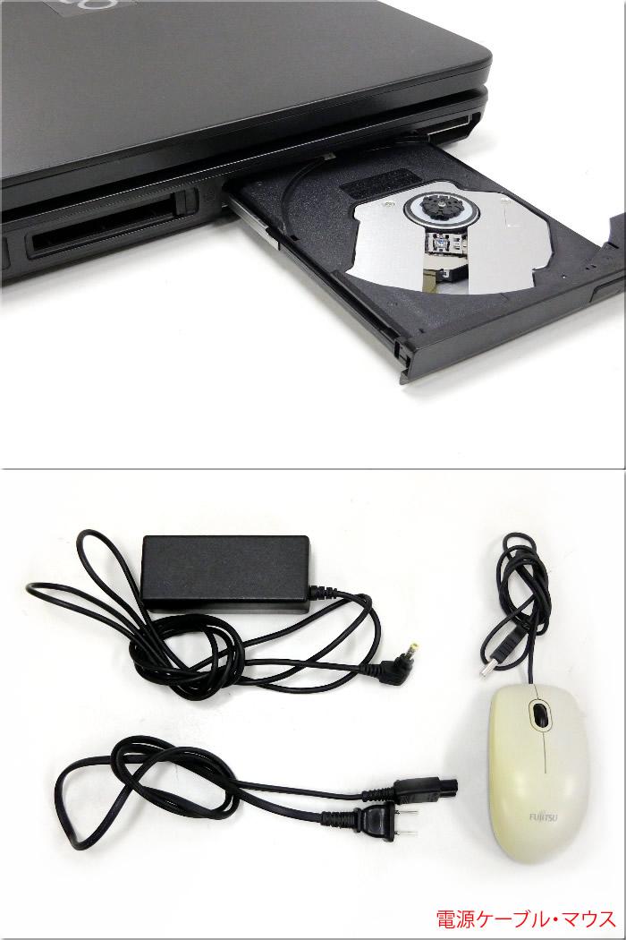 【中古】FUJITSU 富士通 バリューシリーズ A4ノート LIFEBOOK ライフブック A540/CX CPU:Celeron 925 OS:Win7-Pro(32) メモリ:2GB HDD:135GB