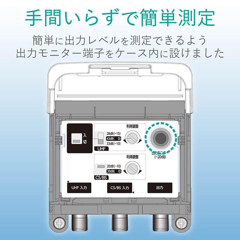 【新品】【送料無料!】DXアンテナ UHFブースター 家庭用 33dB/43dB共用形 デュアルブースター 水平マスト取付け可能 U43A