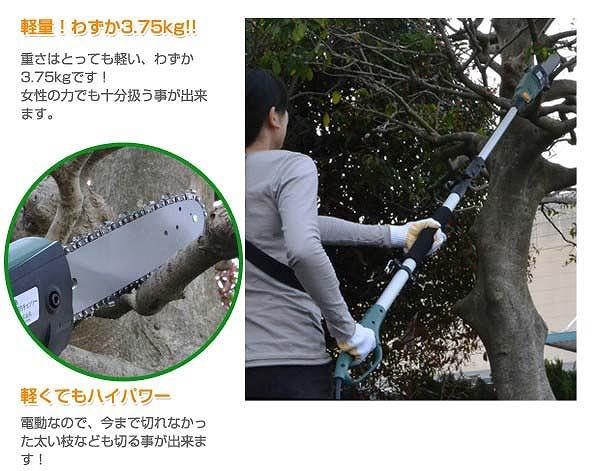 【新品】SIS 電動高枝切りチェーンソー 高枝健太郎くん ET1208