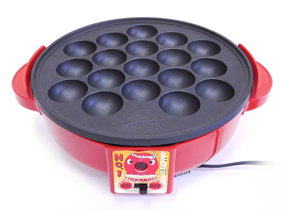 【中古】中央産業 電気たこ焼き器 たこ焼きNo.1 18穴 CS3-0023