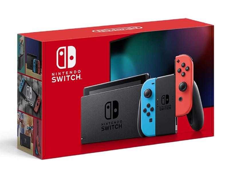 【新品】Nintendo 任天堂 Nintendo Switch本体 ニンテンドー スイッチ本体 バッテリー持続時間が長くなった新モデル ネオンブルー×ネオンレッド