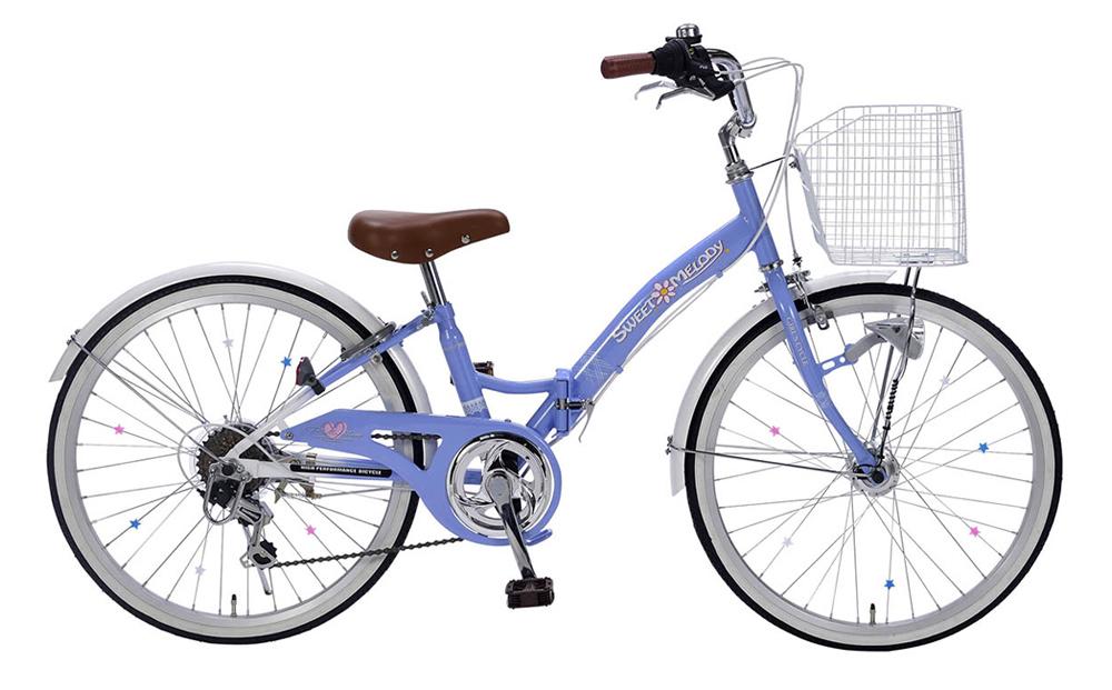 折りたたみ自転車 子供用 M-802F(BL) ラベンダーブルー 22インチ
