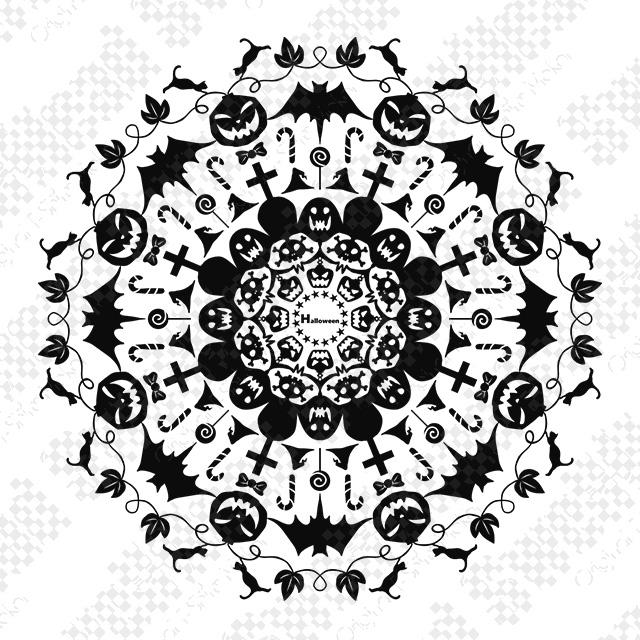万華鏡ハロウィン(黒)