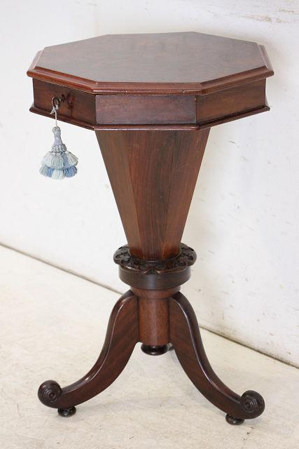 sx-1 1890年代 イギリス製 アンティーク ビクトリアン ウォルナット ソーイングボックス 裁縫箱