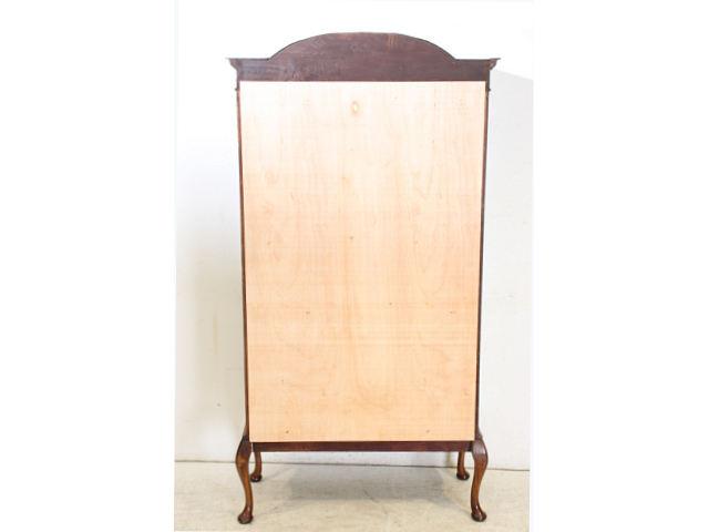 ce-63 1890年代イギリス製アンティーク ビクトリアン マホガニー 木嵌細工 ステンドグラス キャビネット