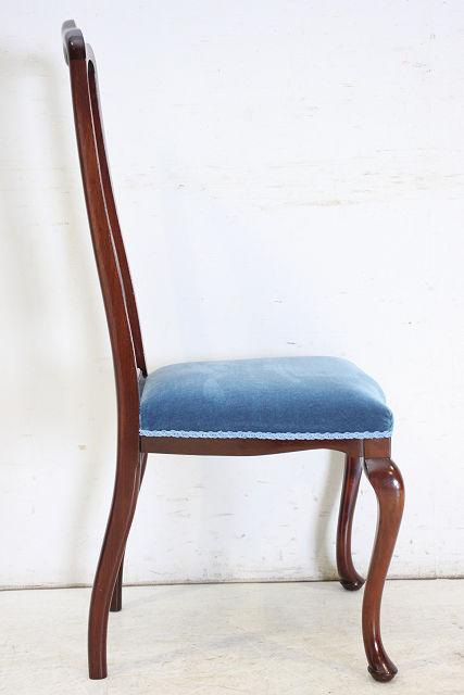 dn-33 1910年代 イギリス製 アンティーク クイーンアンスタイル マホガニー アールヌーボー ダイニングチェア 椅子