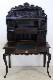 wd-10 1880年代 イギリス製 アンティーク ビクトリアン オーク 彫刻 ライティングビューロー 机