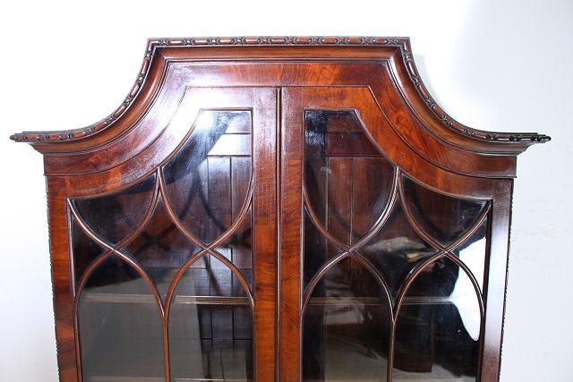 wd-4 1880年代イギリス製アンティーク ビクトリアン ウォルナット ビューローブックケース デスク