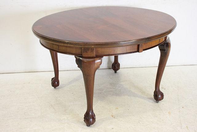 dt-24 1890年代イギリス製アンティーク マホガニー ビクトリアン ボウルクロウフット エクステンション ダイニングテーブル