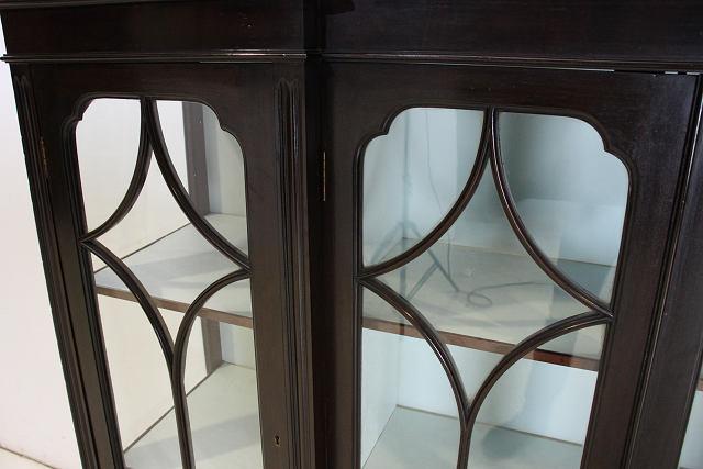 ce-8 1920年代 イギリス製 アンティーク マホガニー 4ドア キャビネット