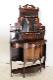 ce-80 1900年代 イギリス製 アンティーク エドワーディアン ローズウッド ミラーバック エンパイヤキャビネット