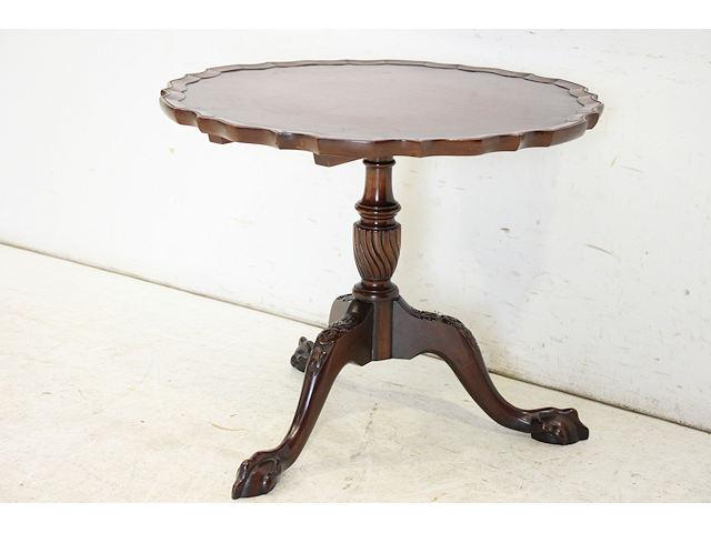 wt-1 1890年代イギリス製アンティーク ビクトリアン マホガニー チッペンデールスタイル ワインテーブル