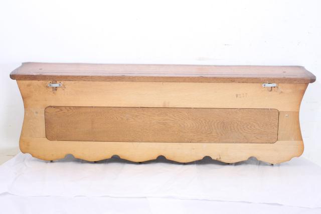 an-17 1970年代イギリス製ビンテージ オーク ハンギング コートハンガー 壁掛けフック シェルフ