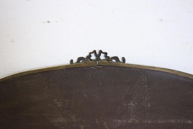 mr-11 1890年代 イギリス製 アンティーク ヴィクトリアン ブラス ウォールミラー 壁掛け鏡