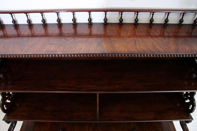 nd-2 1880年代イギリス製 アンティーク ビクトリアン ウォルナット オープン デスク 机 ライティングテーブル