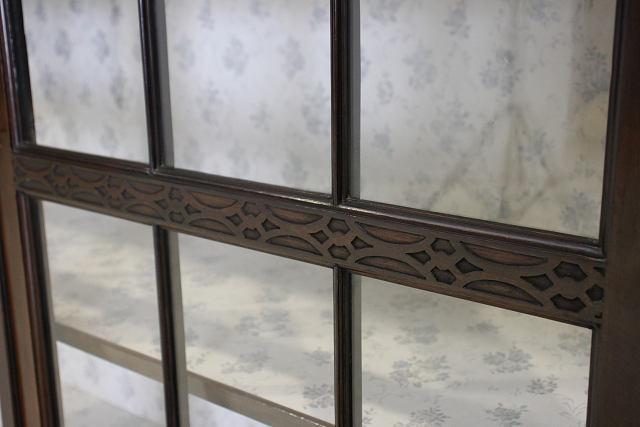 ce-22 1910年代イギリス製 アンティーク マホガニー ディスプレイ キャビネット