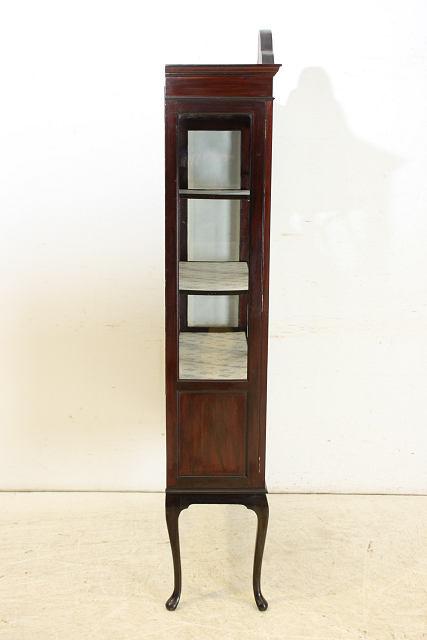 ce-27 1910年代 イギリス製 アンティーク エドワーディアン マホガニー グラスキャビネット