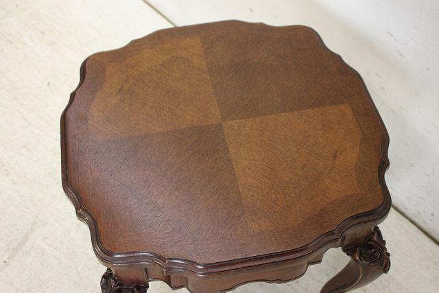 ct-8 1940年代フランス製アンティーク ウォルナット コーヒーテーブル ローテーブル