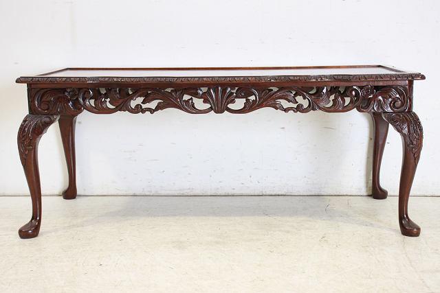 st-4 1960年代 イギリス製 ビンテージ マホガニー ビクトリアンスタイル センターテーブル