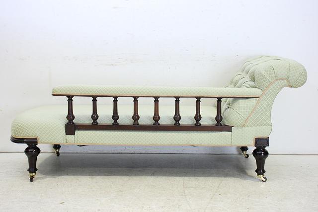 sf-12 1890年代 イギリス製 アンティーク ヴィクトリアン マホガニー カウチソファ セッティ