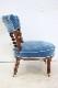 sc-9 1880年代 イギリス製 アンティーク ビクトリアン ウォルナット ナーシングチェア ローチェア 椅子 小型 いす