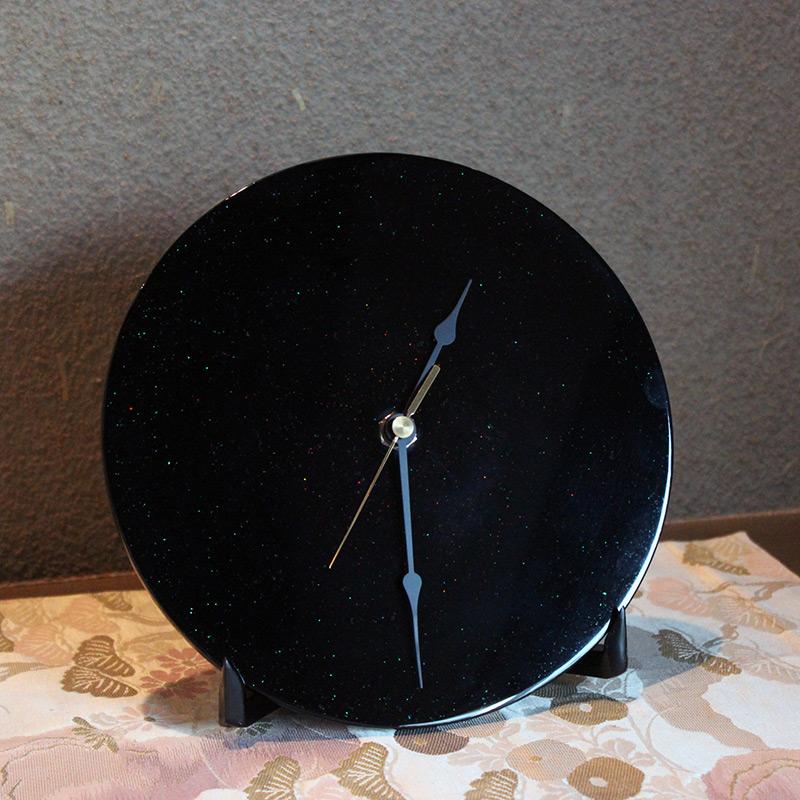 漆塗り時計(ブラック)