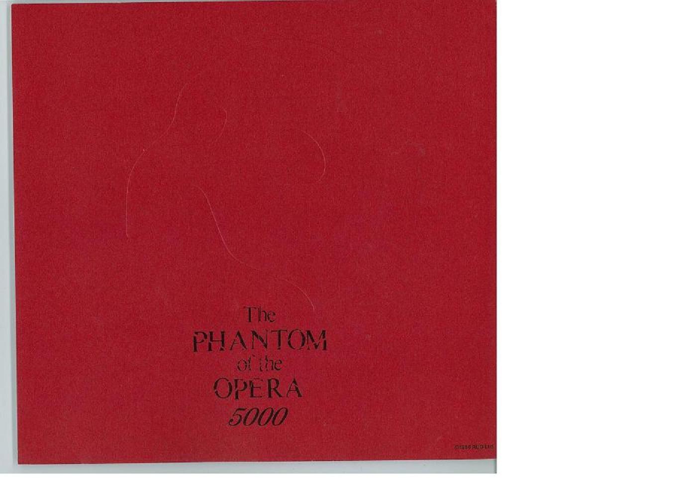 【書籍】オペラ座の怪人 5000回記念誌<2009年12月発行>