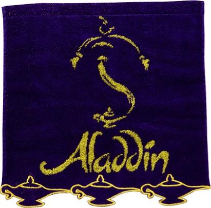 アラジン スカラップ刺繍ウォッシュタオル