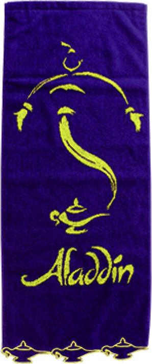 アラジン スカラップ刺繍フェイスタオル