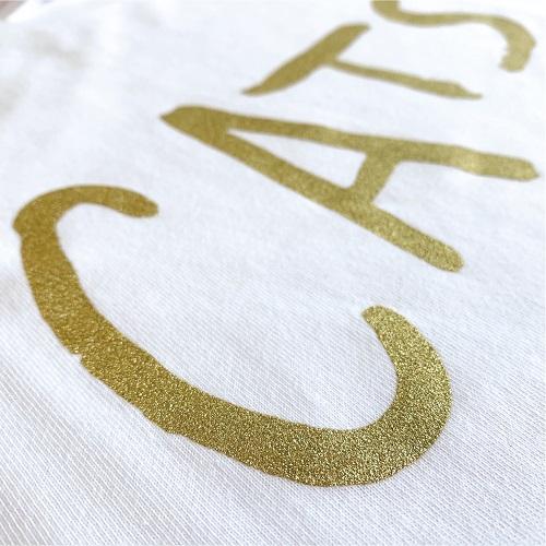 キャッツ ロゴTシャツゴールド白 L