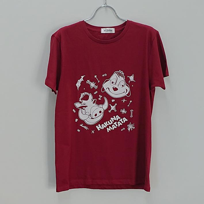 ライオンキング Tシャツ バーガンディ S