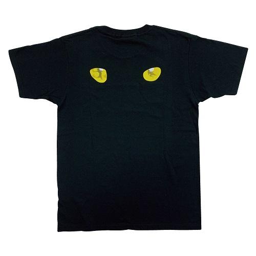 キャッツ ロゴTシャツゴールド黒 L