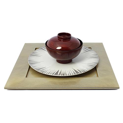 31cm角皿(シャンパンゴールド)