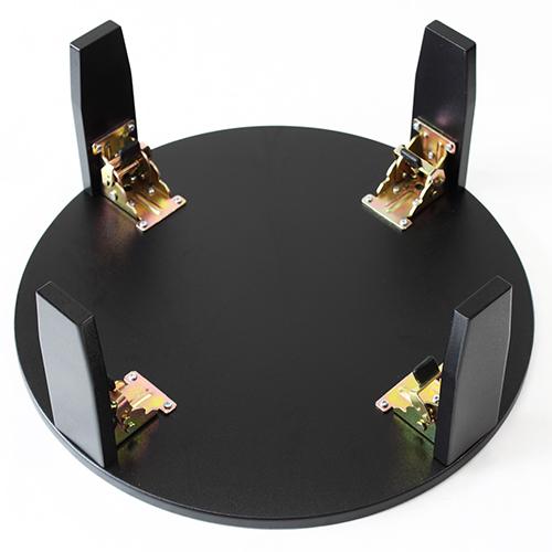 和風カフェテーブル大波千鳥(黒)