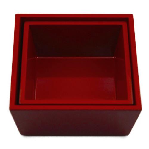 台形入子二段重箱(赤)