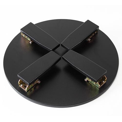 和風カフェテーブル大松鶴(黒)