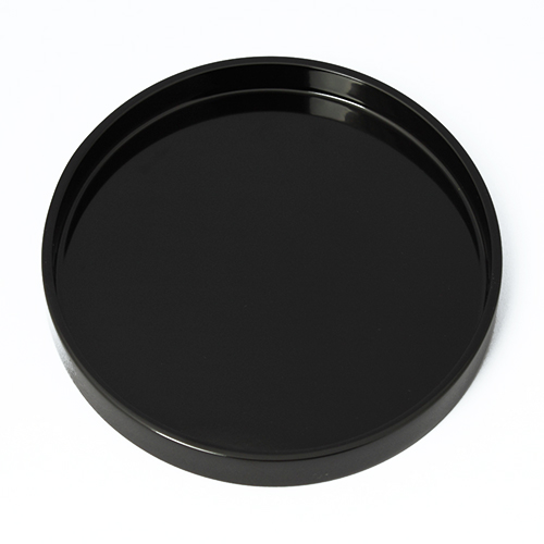 七寸丸盆(黒)