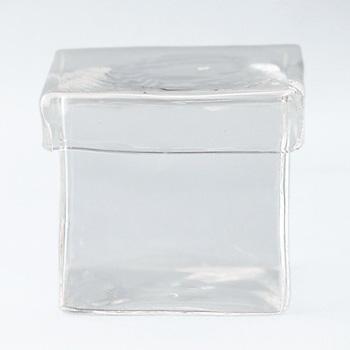 ガラス角ポット(蓋付)