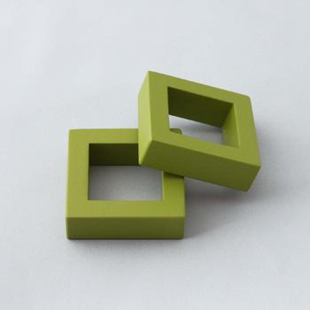 ナプキンリング正角2P(グリーン)