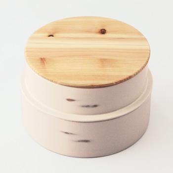 Njeco汎丸二段弁当箱(変根来)