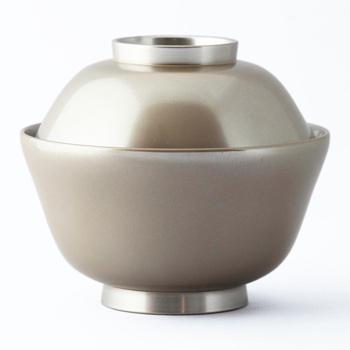銀彩まゆ型雑煮椀