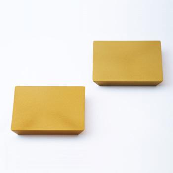 四角塗り板2P(ゴールド)