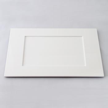長角皿(ピュアホワイト)