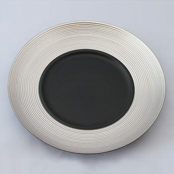 【白磁】ディモーダ28cmディナープレート(シルバー)
