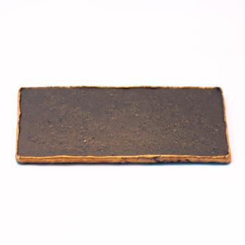【磁器】ロック23cm長角皿(炭化黒)