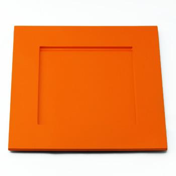 角皿(オレンジ)